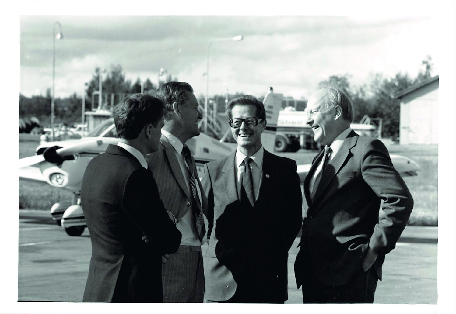 Professor emeritus Bengt Hultqvist before the inauguration of EISCAT, August 26 1981. © EISCAT Scientific Association